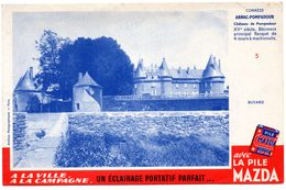 Buvard Piles Mazda, Château Arnac-Pompadour N°5 - Piles