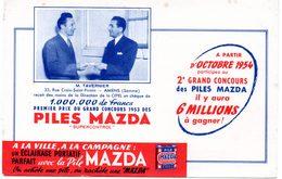 Buvard Piles Mazda, Grand Concours, Mr Tavernier D'Amiens Gagnant. - Batterie