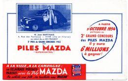 Buvard Piles Mazda, Grand Concours, Mr Martinais De Vitré, Gagnant. - Baterías