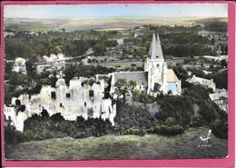 Picquigny - Les Ruines Du Chateau L'Eglise En Avion Au Dessus De .... - Picquigny