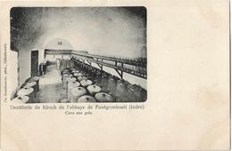 36 ABBAYE DE FONTGOMBAULT DISTILLERIE DE KIRSCH CAVE AUX GRES - France