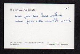 """Carte De Visite """"M.Mme Jean-Pau Daunou """" à Bretteville Sur Odon 14 - Cartoncini Da Visita"""