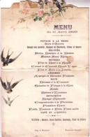 Lot De 10 Menus, De 1899 à 1931. Documents Simples Ou 2 Volets. Bon état. 10 Scan. - Menus