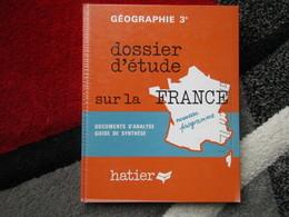 """Dossier D'étude Sur La France """"Géographie 3e"""" Spécimen (G. Toussaint) éditions Hatier De 1973 - Books, Magazines, Comics"""