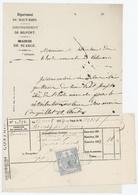 T.Dimension 50c. Bleu Mairie De Suarce - Revenue Stamps