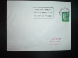 LETTRE TP M.DE CHEFFER 0,30 OBL.MEC.25-2 1970 13 MARSEILLE ST FERREOL CROIX ROUGE FRANCAISE 1870-CENTENAIRE-1970 DU COMI - Postmark Collection (Covers)