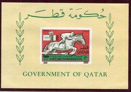1966.- QATAR -   OVERPRINT  DEPLACED  1 S.S..  RARE VARIETY- -M.N.H.- LUXE !!! - Qatar