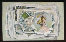 BELGIE - BELGIQUE  - AFBEELING VAN GELD MET VROUW - Monnaies (représentations)