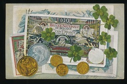BELGIE - BELGIQUE  - AFBEELING VAN GELD MET MUNTEN - Monnaies (représentations)