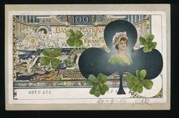 BELGIE - BELGIQUE  - AFBEELING VAN GELD MET KLAVER VROUW - Monnaies (représentations)