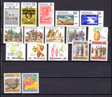 1985-87   Botswana, Entre  Yv. 511 Et  570** (1986 Complet),  Cote 139 €, - Botswana (1966-...)