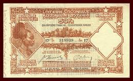 Belgique - Loterie Coloniale - 1936 - 17 Tranche - Biglietti Della Lotteria