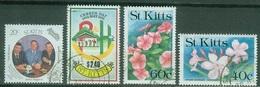 Amérique - St Kitts & Nevis - St Kitts  Liquidation  1989  Apollo 1991 Recensement 1990 Fleurs Oblitérés - St.Kitts And Nevis ( 1983-...)