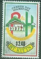 Amérique - St Kitts & Nevis - St Kitts  Liquidation  1991 Recensement  Oblitérés - St.Kitts And Nevis ( 1983-...)