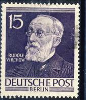 Berlino 1952-53 UN  N. 83 P. 15 Usato Cat. € 18 - Oblitérés