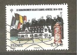 FRANCE 2015 N° Y T N° 4933 : Gouvernement Belge Ste Adresse - Oblitéré - Used Stamps