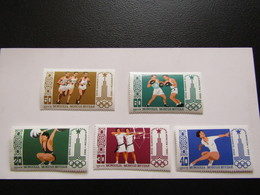 JO283   Olympiques Moscou Olympic 1980   MNH  Mi 1287-1291 - Mongolia