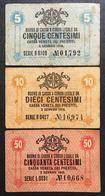 Cassa Veneta Dei Prestiti 5 + 10 + 50 Cent 1918 LOTTO 492 - Unclassified