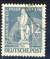 Berlino 1949 UN N. 21 P. 12 Grigio Azzurro Usato Cat. € 12 - Gebraucht