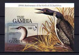 1985   Gambie, Ornithologue Audubon, Canard,Yv.  Bf 14**, Cote 12 €, - Ducks