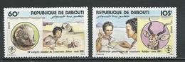 DJIBOUTI Scott533-534 Yvert 539-540 (2) ** Cote 6,50 $ 1981 - Djibouti (1977-...)