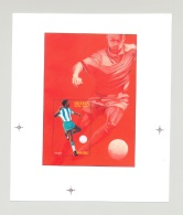 Eritrea #272 1996 Olympics Soccer 1v S/S Unissued Chromalin Essay - Eritrea