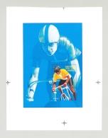Eritrea #273 Olympics Bicycles 1v S/S Unissued Chromalin Essay - Eritrea