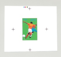 Eritrea 1996 Olympics Soccer 1v Unissued Design Chromalin Essay - Eritrea