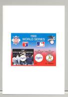 St Vincent #1183 1988 World Series Baseball 1v Imperf Proof Of S/S In Folder - St.Vincent (1979-...)