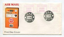 PAPUA NEW GUINEA ATM FDC COVER 1990 PORT MORESBY - Rapa Nui