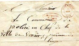 Luxembourg - Lettre Préphilatélie De LUXEMBOURG Vers Vervier 1846 - Luxembourg