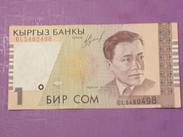 Kirghistan 1 Som 1999 P15 Circulé - Kirghizistan