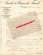SUISSE - RARE LETTRE MANUSCRITE STE DES USINES DU FURCIL-CIMENT PORTLAND-ROMAIN-CHAUX BLUTEE-PAUL DUCOMMUN-1909 - Switzerland