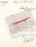 AFRIQUE- MADAGASCAR- MAJUNGA- RARE LETTRE MANUSCRITE SIGNEE D. BALAUZE- ENTREPRENEUR- 1904 - Factures & Documents Commerciaux
