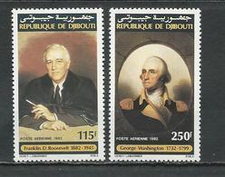 DJIBOUTI Scott C170-C171 Yvert PA176-PA177 (2) ** Cote 6,50 $ 1982 - Djibouti (1977-...)
