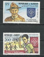 DJIBOUTI Scott C163-C164 Yvert PA169-PA170 (2) ** Cote 5,00 $ 1982 - Djibouti (1977-...)