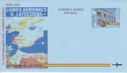 SPAIN 1995 Aerogramme Map Airplane  #22252 - Entiers Postaux