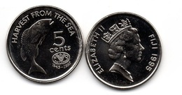 Fiji - 5 Cents 1995 UNC Lemberg-Zp - Fiji