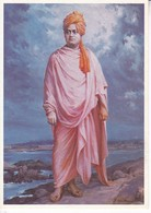 SAMI VIVEKANANDA ON THE SRIPADA SHILA, KANYAKUMARI. GREETWELL. INDIA.-TBE-BLEUP - India