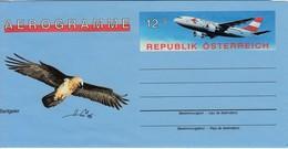 AUSTRIA OSTERREICH 1995 Aerogramme Bird Airplane  #22253 - Entiers Postaux