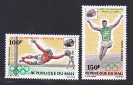 MALI AERIENS N°   62 & 63 ** MNH Neufs Sans Charnière, TB (D6850) Cosmos, Sports, Jeux Olympiques De Mexico, Satellites - Mali (1959-...)