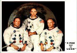"""Les Heros De La Lune """" 4 Pas Sur La Lune """" Souvenir Offert Par France Soir Spécial 3 COSMONAUTES DONT ARMSTRONG COLLINS - Espace"""