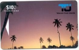 COOK Islands: COK-01. 01CIC 10$ 'Coconut Palm' - Cook Islands
