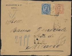 STORIA POSTALE REGNO - ANNULLO TONDO-RIQUADRATO NAPOLI/(SUCC.le N° 11) (p.6) SU FRONTESPIZIO RACCOMANDATA - Storia Postale