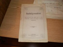 Hungary Versec Vrsac Szabalyrendelet  Versecz Thjf Varos Tiszti Seged Kezelo Es Szolga Szemelyzetenek  .... Versecz - Boeken, Tijdschriften, Stripverhalen