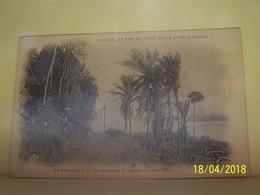 COTE-D'IVOIRE. CHEMIN DE FER ET PORT DE LA COTE-D'IVOIRE. LE KILOMETRE 1 SUR LES BORDS DE LA LAGUNE. FEVRIER 1904. - Ivory Coast