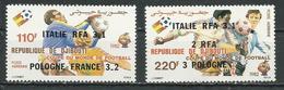 DJIBOUTI Scott C166-C167 Yvert PA174-PA175 (2) ** Cote 6,00 $ 1982 Surcharges - Djibouti (1977-...)