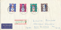 Germany Cover Sent Air Mail To USA Stuttgart 15-11-1972 With Complete Set CHESS Stamps - Schaken