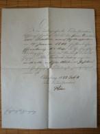Grossherzogtum Oldenburg Empfangsbescheinigung Ehrenkreuz II. Klasse 1883, Original-Unterschrift Römer - Dokumente