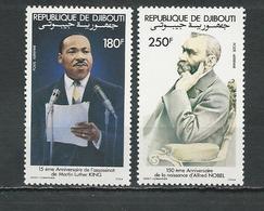 DJIBOUTI Scott C180-C181 Yvert PA186-PA187 (2) ** Cote 6,00 $ 1983 - Djibouti (1977-...)